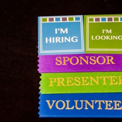 "Attendee Badges • <a style=""font-size:0.8em;"" href=""http://www.flickr.com/photos/45163914@N00/18020718591/"" target=""_blank"">View on Flickr</a>"